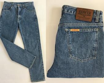 Edwin 32 30 Women's Jeans Excellent Condition High Waist W32 L 30 100% Cotton Edwin Jeans