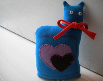 Turquoise Love Cat