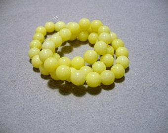 Jade Beads Yellow  Round 8mm