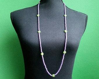 Necklace 98 cm Handmade Boho Hippie Czech Glass beads Seed beads seed beads Summer Festivals handmade Accessory Gift Gift