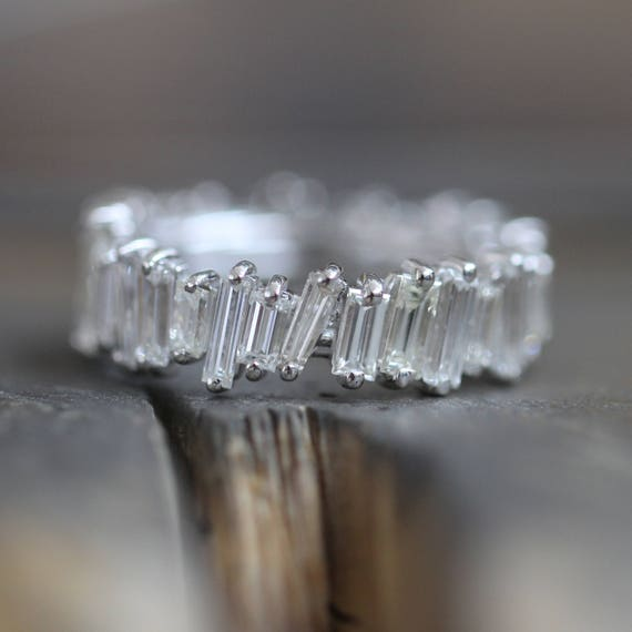 Platinum Baguette Eternity Band