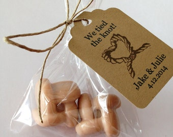 100 wedding soap favors - We tied the knot - wedding & bridal shower, wedding reception soap favors