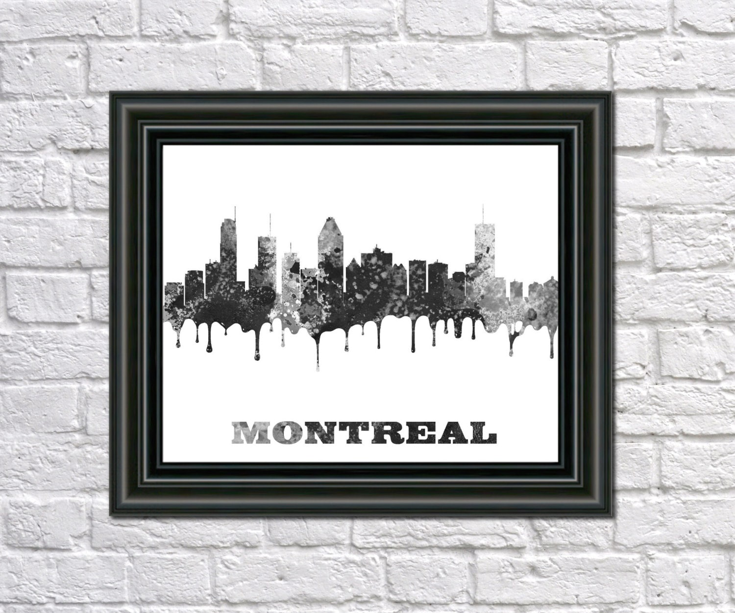 Montreal Canada Paint Splashes City Outline Art
