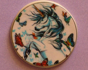 UNICORN and BUTTERFLIES Talisman Amulet Witch Wicca  Pagan