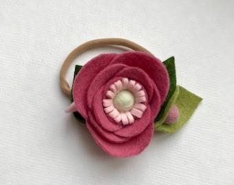BALLET SLIPPER// single flower// felt flower