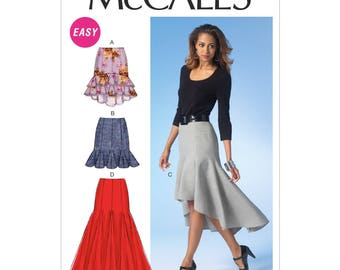 McCall's M7054 Size 6-14 OR 14-22 Misses Semi-Fitted Skirts Sewing Pattern / Uncut FF