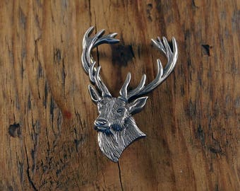 Stags Head Brooch