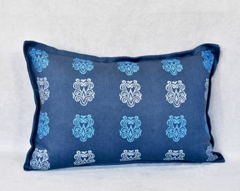 Block Printed Lumbar Pillow - Midavesta