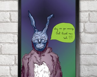 Donnie Darko - Frank print + 3 for 2 offer! size A3+  33 x 48 cm;  13 x 19 in