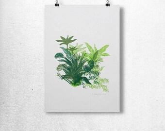 Hand pulled, 4 color silkscreen art print.