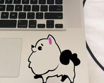FUN STICKERS, Pomeranian dog, pommy laptop decoration decal