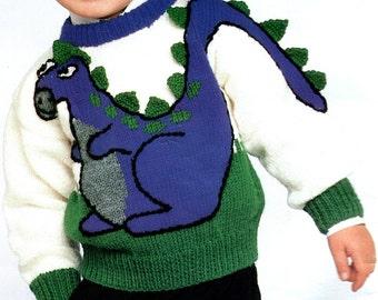 Dinosaur Knitting Pattern, Horse, Cat, Bunnies, Bears, Dogs, Sheep Patterns, Beehive  Menagerie, Child Size 1-12, Women Sm-Lg