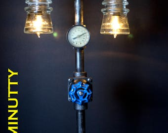 Steampunk Industrial Lamp - Quality Construction - Handmade