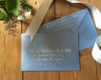 Wedding Envelope Calligraphy---Hand Written Envelope Addressing--The Dianna Font