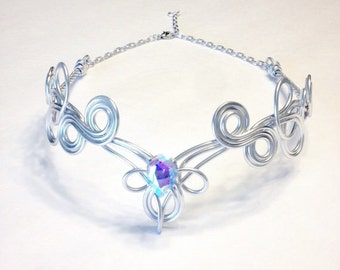 KALINA Circlet - Celtic Elven Medieval Renaissance - Hand Crafted - Choose Your Own COLOR - Crown Tiara Bridal Wedding Hairpiece Cosplay