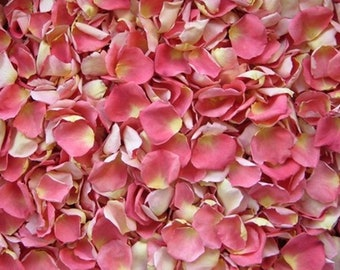 Scented WEDDING TOSS PETALS Guava Fresh Freeze Dried, Bio-degradable, Real Rose Petals, Wedding Color Match, Bulk Orders