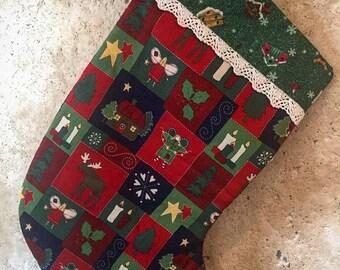 Handmade Christmas Stocking (Fully lined)
