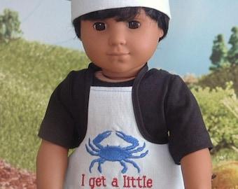 Je reçois un petit tablier Bougon et chapeau de Chefs pour American Girl