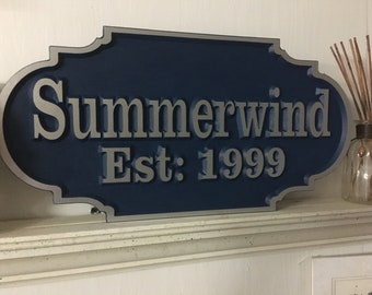 Outdoor Address signs, custom address signs, V-Carved House sign, beach plaque,  cabin sign, personalized signs, personalized plaques.