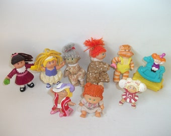 9 Vintage Cabbage Patch Kids Doll Figures Cabbage Patch Dolls