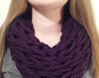 Choose Your Color! - The Ashley Infinity - A Medium-Thick, Wide-Knit, Single-Wrap Infinity Scarf