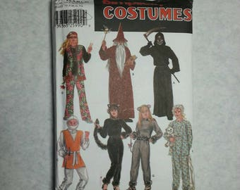 Halloween UNCUT wizard grim reaper adult costume sewing pattern hippie kitty baby ninja mouse xs s m l xl FREE SHIPPING