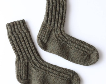 Hand-knitted Wool Socks MILITARY SOCKS By VidaFelt - Size 37-39 - Free Shipping!