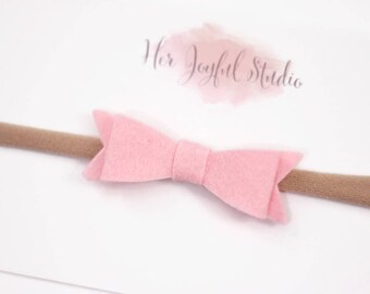 Pink Baby Headband, Baby Bows, Headbands, Newborn Headband, Baby Girl Headband, Newborn Girl Headband, Bows, Headband, Newborn COTTON CANDY