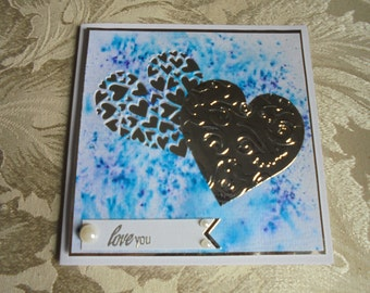 Love you card. Romantic card. Anniversary card. Wedding day card.