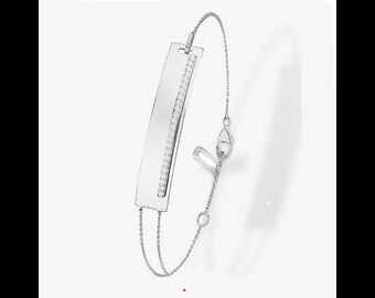 Rhinestone 925 sterling silver plated bracelet