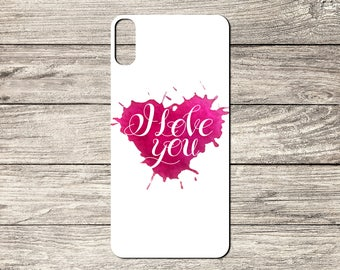 I Love You Text TPU Case For iPhone 5/5S 6/6S 7 8 & X (S6497)