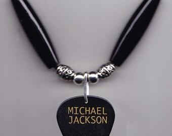 Michael Jackson 2011 Tribute Concert Guitar Pick Necklace 1958-2009