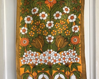 Vintage Tea Towel Pure Linen made in China