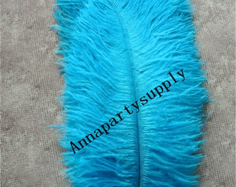 100 pcs turquoise 10-11inch ostrich feather plume for wedding party supply decor wedding centerpiece