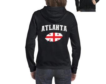 Atlanta Georgia Women Full-Zip Hooded Sweatshirt