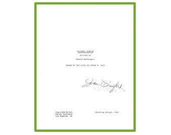Mildred Pierce Movie Script Signed Joan Crawford 1945 Shooting Script