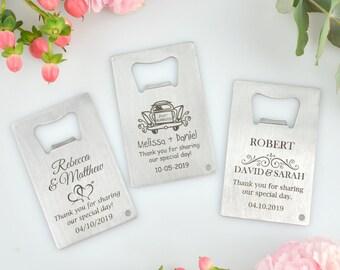 5 x Engraved Credit Card Bottle Opener Bridal Party Gift