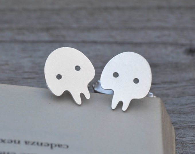 Skull Cufflinks In Sterling Silver With Personalized Message On The Backs, Handmade In The UK