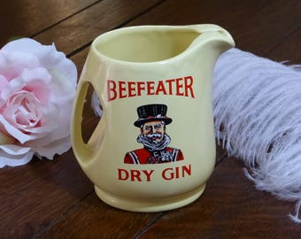 Beefeater Dry Gin Yellow Pitcher, Hard To Find Yellow Beefeater Dry Gin Pitcher Wade Regicor (ØJ)