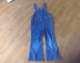 Denim Overalls ,  Children's size 5 XL 5 years old Baby Gapl, work cloths, farm cloths, 100 percent Cotton