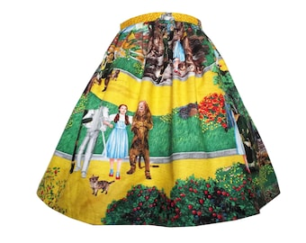 LAST ONE - Wizard of Oz Skirt Made From Rare Hard To Find  Scenic Fabric - Handmade Any Size - Pull On Skirt With Elasticated Waist