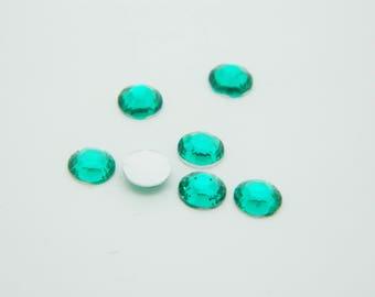 90 mm x 5mm Green round rhinestone (l1161)