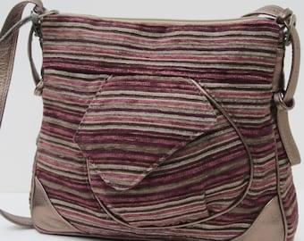 GROßE Schulter Tasche von Elizabeth Z Mow Stoff und Leder Yipe s Streifen