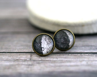 Galilean Moons Earrings, Galileos Moons Studs, Galileo Galilei, Moon Phase Earrings, Retro Moon Earrings, Retro Astronomy, Science, Moon