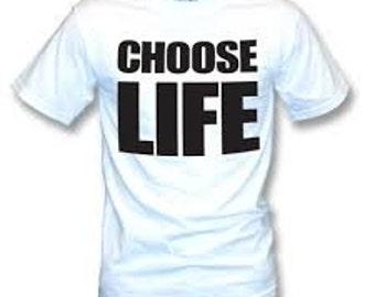 George Michael - Choose Life shirt - Freedom - RIP George Michael - WHAM! - Choose Life t-shirt
