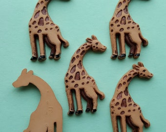 FLAT-BACKED GIRAFFE - Zoo Animal Africa African Safari Dress It Up Craft Buttons
