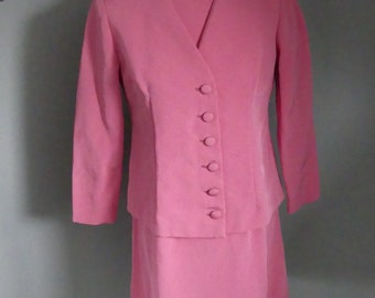 True Vintage 60s Sixties carnation pink shift dress with matching jacket