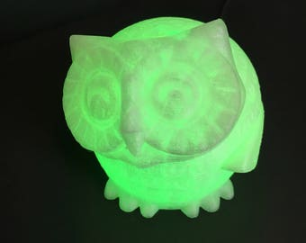 3D LED color changing Owl Night Light