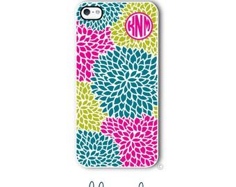 Floral Phone Case Monogram iPhone 6 Case iPhone 6s Case Samsung Galaxy S5 S6 Case iPhone 5 Case iPhone 6 Plus Case iPhone 5c Case Style 298b