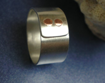 Status - Brushed Finish - Argentium Sterling Silver Ring
